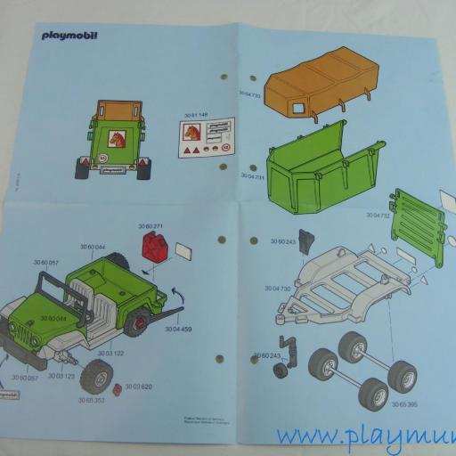 PLAYMOBIL MANUAL CONJUNTO HIPICA REF. 3140