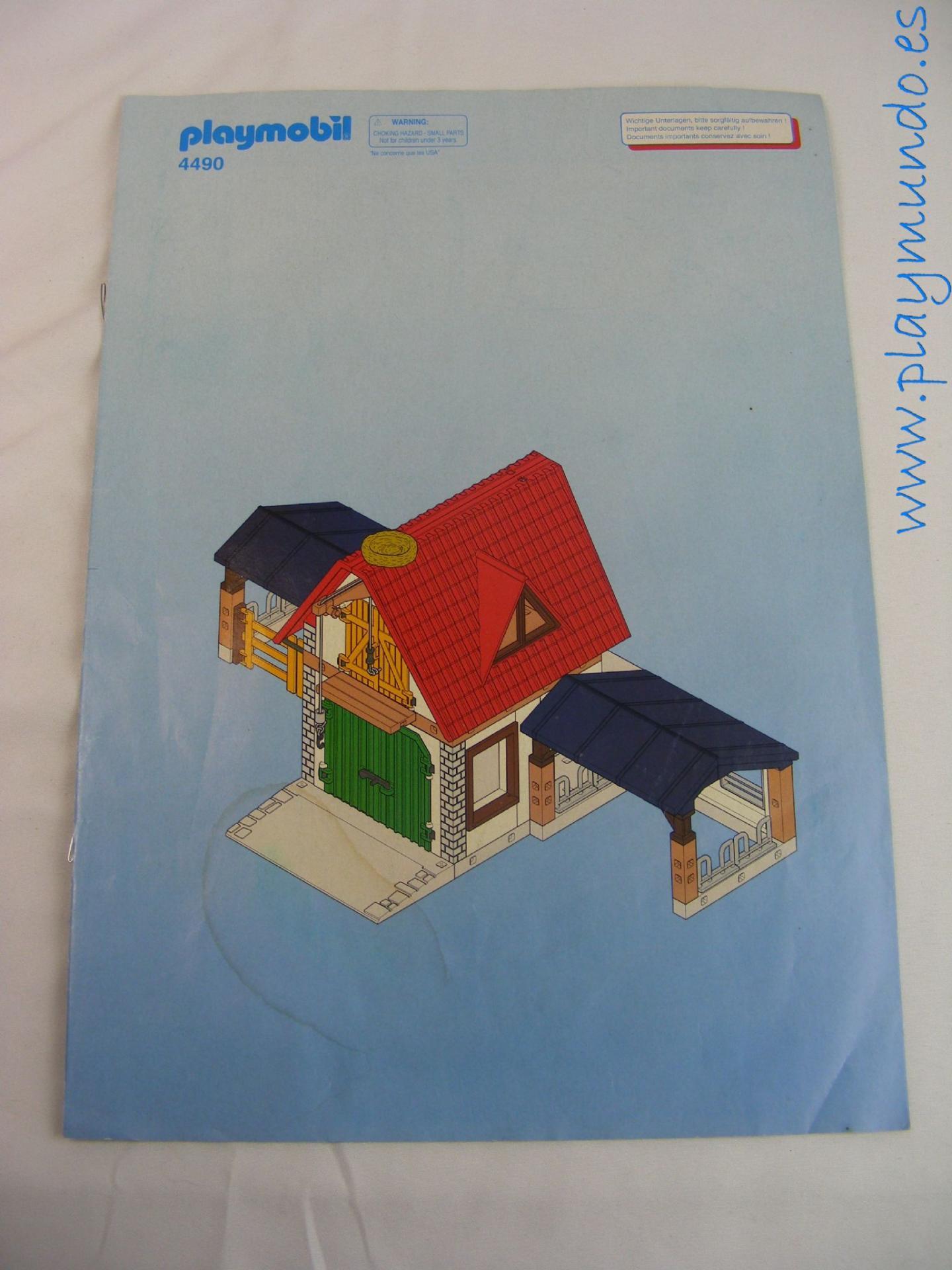 PLAYMOBIL MANUAL GRANJA REF.4490