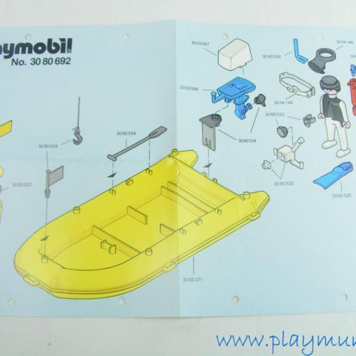 PLAYMOBIL MANUAL LANCHA SUBMARINISTAS REF. 3479