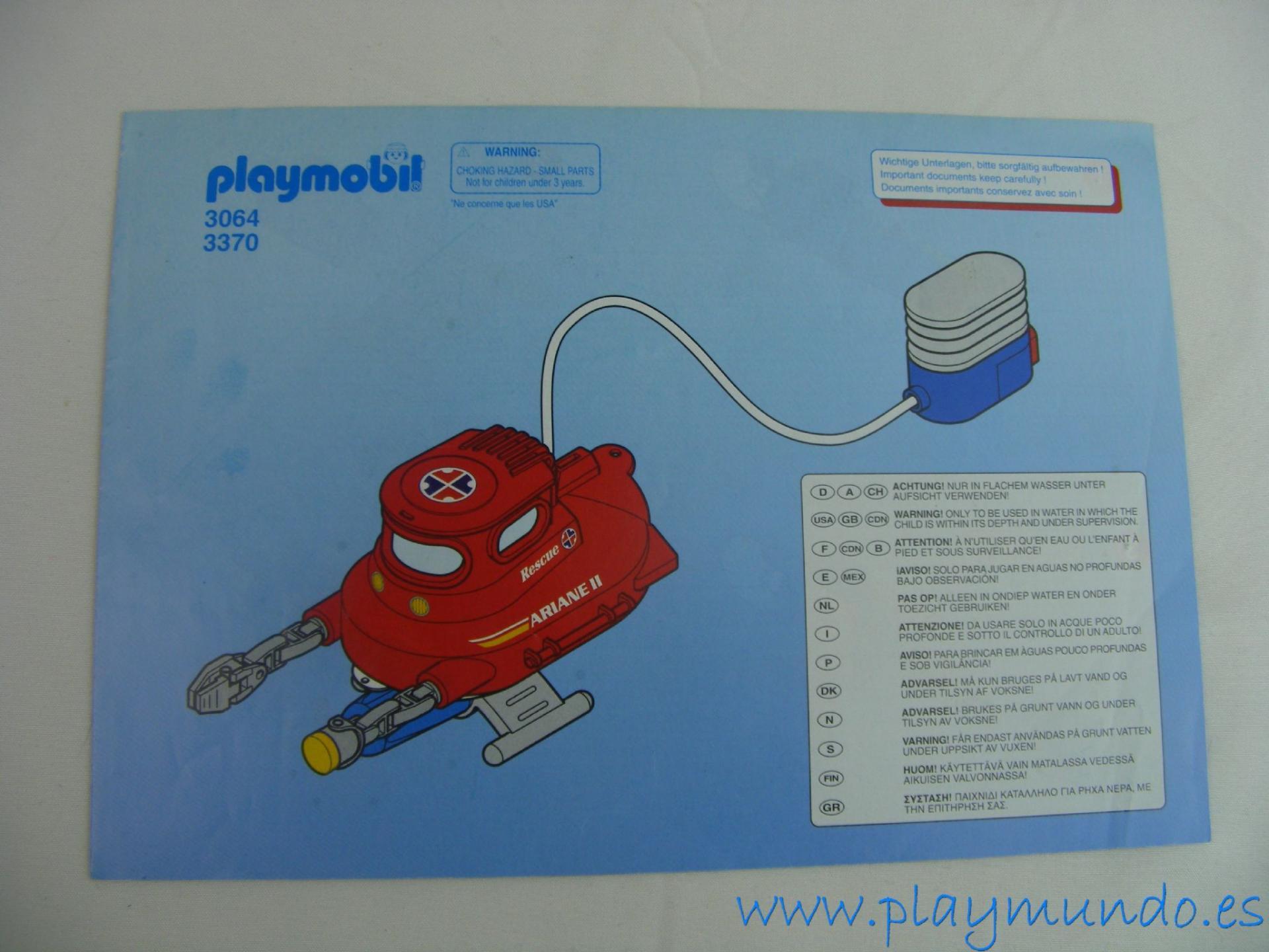 PLAYMOBIL MANUAL MINI SUBMARINO REF. 3064