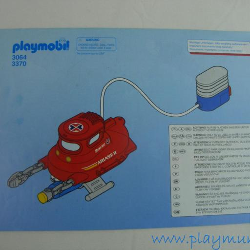 PLAYMOBIL MANUAL MINI SUBMARINO REF. 3064