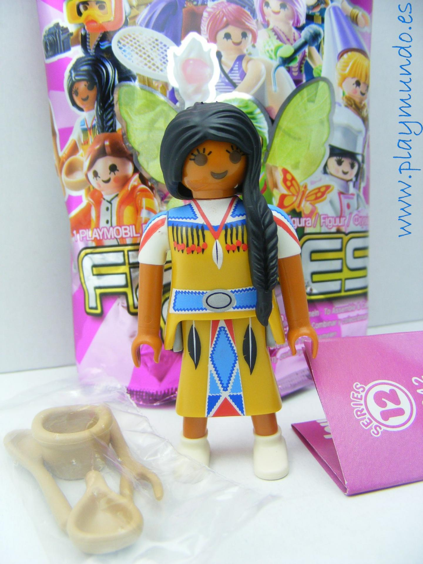 PLAYMOBIL SERIE 12 CHICAS MUJER INDIA