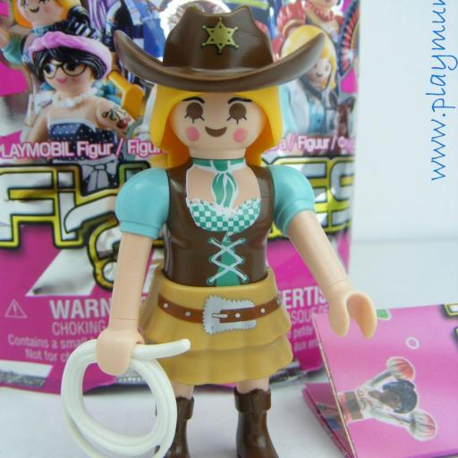 PLAYMOBIL SERIE 13 CHICAS SHERIFF VAQUERA OESTE