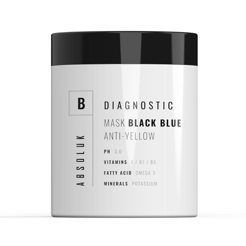 Mascarilla cabellos blancos/rubios Absoluk Diagnostic Black Blue 1kg