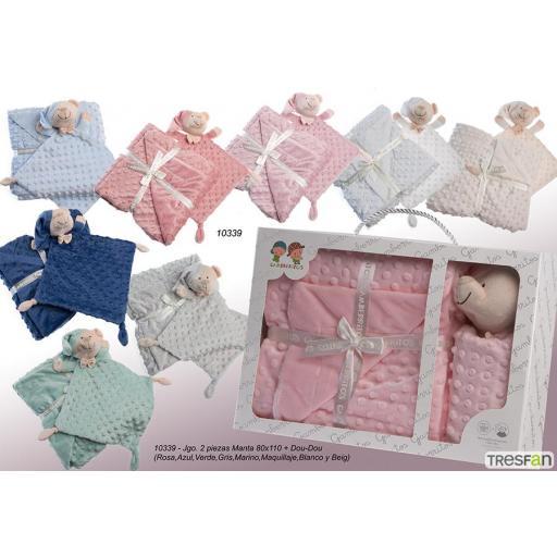 Estuche de regalo para bebé manta + dou dou Gamberritos 10339 jpg