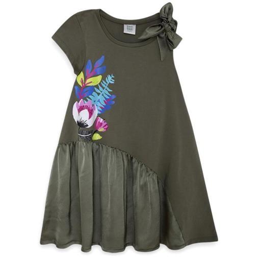 Tuc Tuc Vestido niña verano caqui Samba11280567.jpg