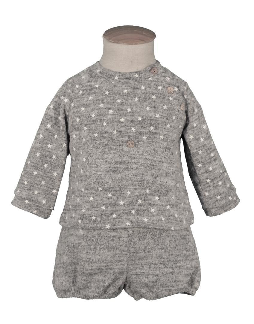 Conjunto ranita bebé franela gris Sulfy 1217.jpg