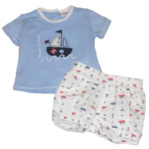 "CONJUNTO CAMiSETA + POLOLO ""HAPPY SAILING"""