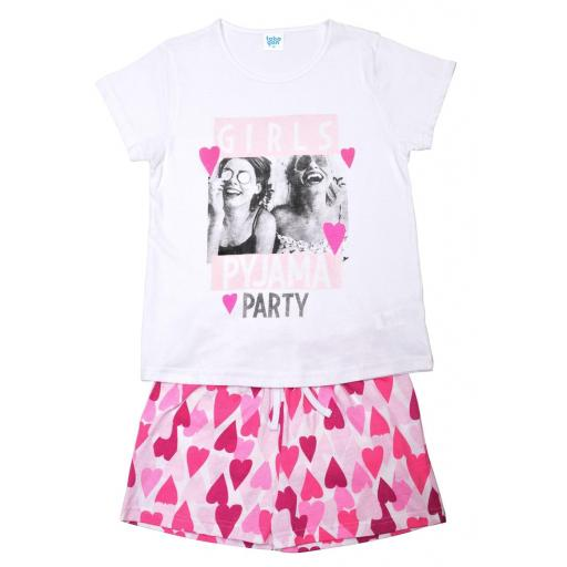 "PIJAMA NIÑA M/CORTA ""GIRLS PYJAMA PARTY"""