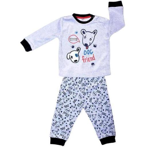 "PIJAMA BEBÉ TERCIOPELO ""DOG FRIEND"""