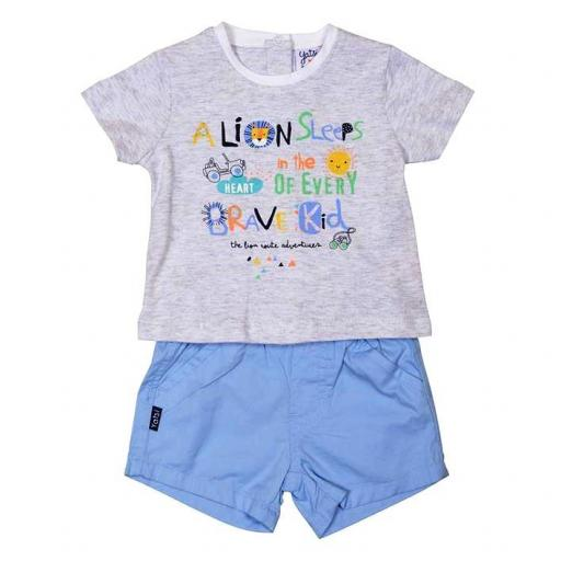 "Conjunto Yatsi bebé niño verano ""THE LION ROUTE"" 20111318.jpg"