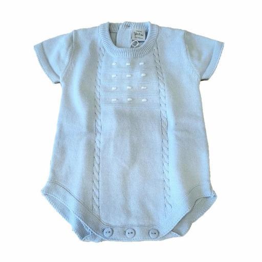 Yatsi - Ranita Pelele bebé prematuros y primeras puestas verano 21130192 CELESTE jpg