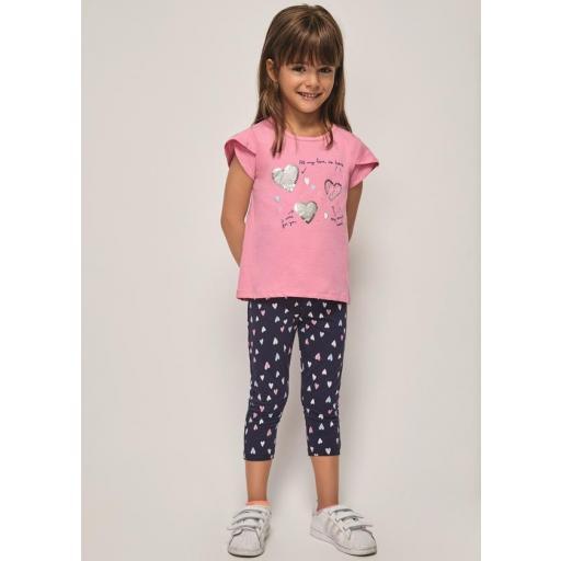 Conjunto niña con legging pirata de Katuco 21133221 jpg