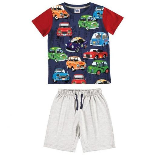 Compaar pijama niño verano manga corta de Tobogan 21137003.jpg