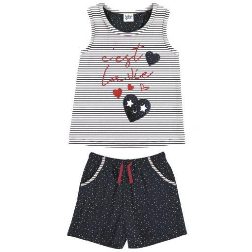 Pijama niña verano bonito sin mangas Tobogan 21137574.jpg