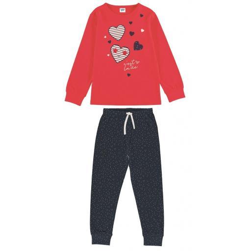 Tobogan Pijama niña manga larga entretiempo primavera con puño 21137587.jpg