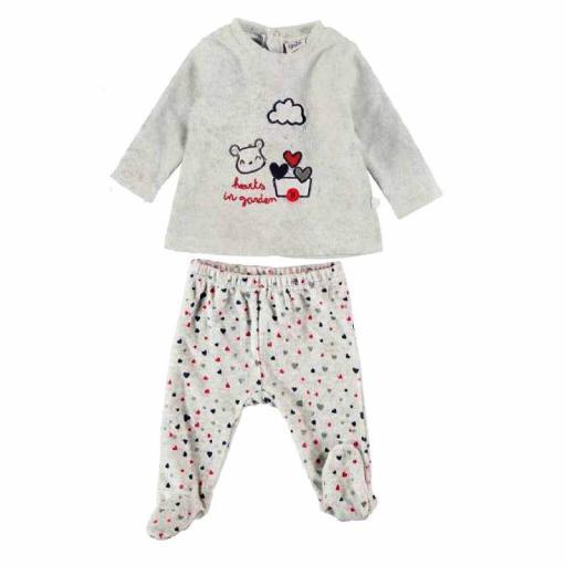 Comprar Conjunto primera puesta bebé niña de terciopelo 21220235 GRIS.jpg