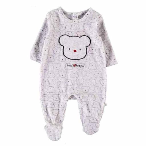 Yatsi Pijama pelele bebé primera puesta de terciopelo21220301 GRIS.jpg