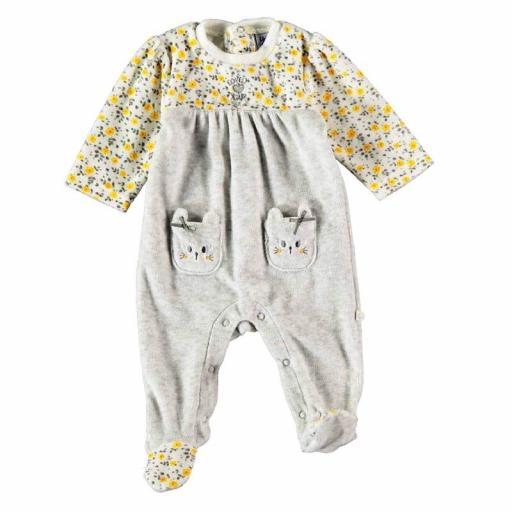 Pijama pelele Yatsi bebé primera puesta de terciopelo 21220338.jpg