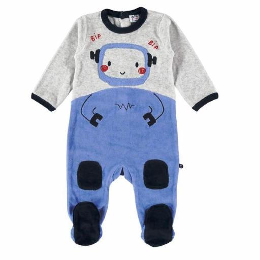 Pijama Pelele Yatsi bebé niño de terciopelo azul21220417.jpg