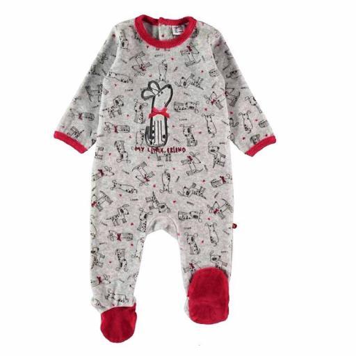 Comprar Pijama Pelele Yatsi bebé niña de terciopelo 21220442 GRIS.jpg