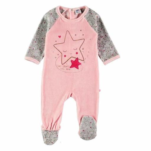 Yatsi Pijama Pelele bebé niña de terciopelo 21220445 SALMÓN.jpg
