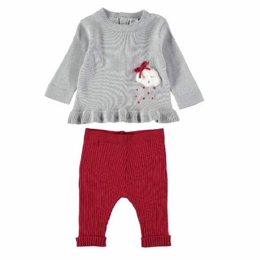 Yatsi Conjunto punto tricot bebé niña 21221073 GRIS.jpg