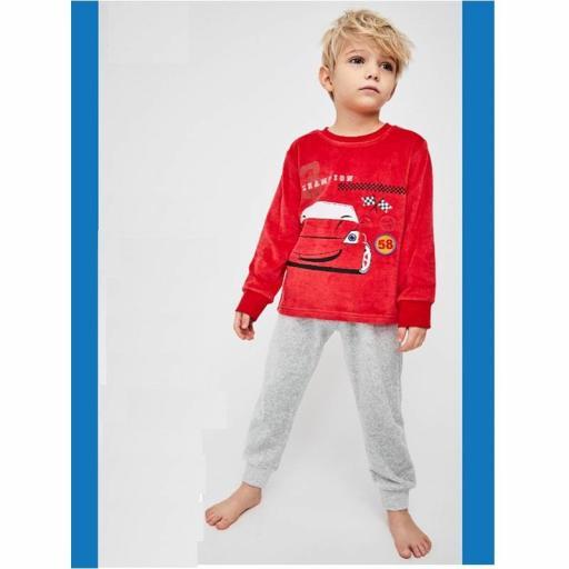 Pijama niño terciopelo de Tobogan excelente calidad 21227105 ROJO.jpg