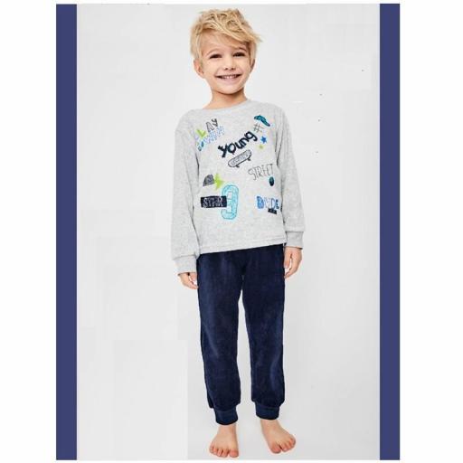 Comprar pijama para niño de Tobogan 21227110 GRIS.jpg