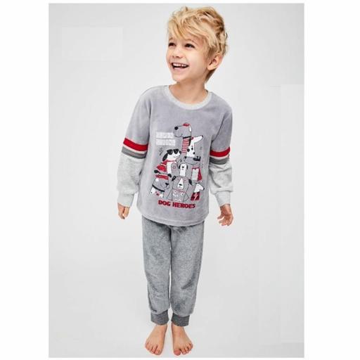 Pijama niño Tobogan en terciopelo de excelente calidad 21227111 GRIS.jpg