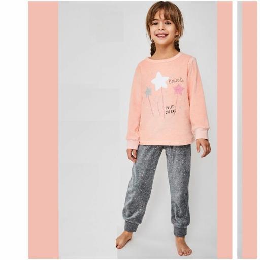 Pijama niña de terciopelo de Tobogan  21227305.jpg