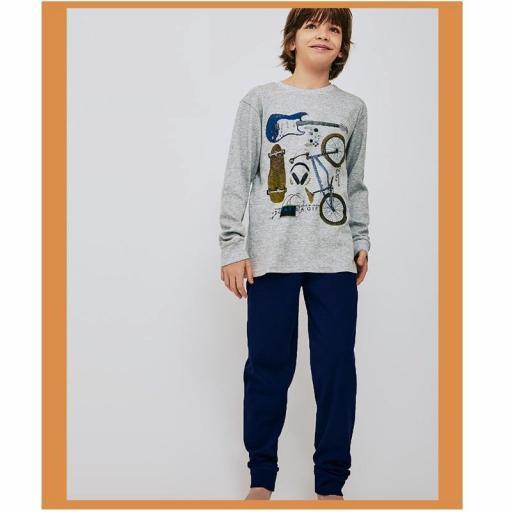 Pijama niño algodón invierno de la marca Tobogan 21228006.jpg