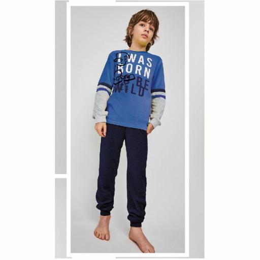 Pijama de terciopelo para niño adolescente de Tobogan 21228110.jpg