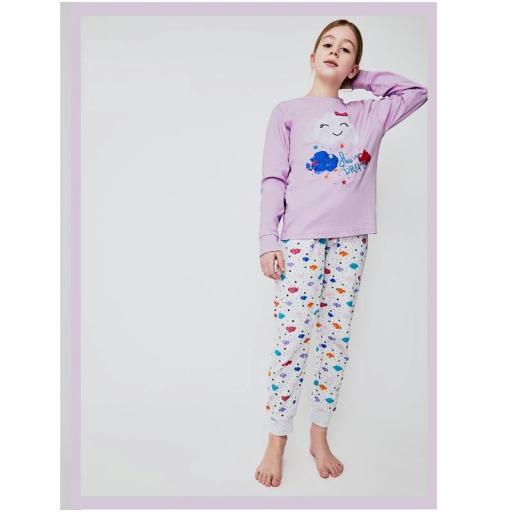 Pijama niña en algodón interlock de Tobogan 21228202.jpg