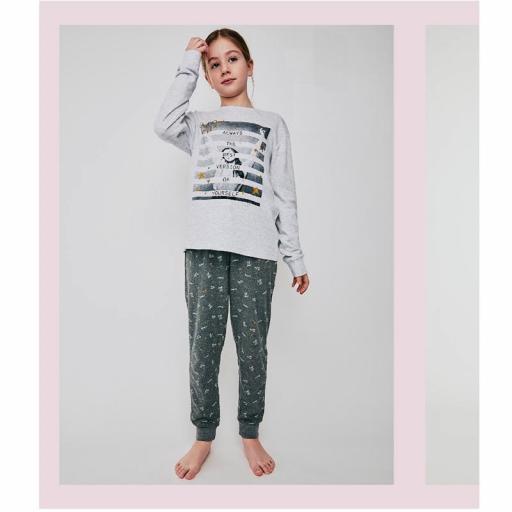 Pijama de algodón invierno para niña de Tobogan 21228203.jpg