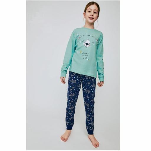 Pijama algodón invierno para niña adolescente de Tobogan 21228206.jpg