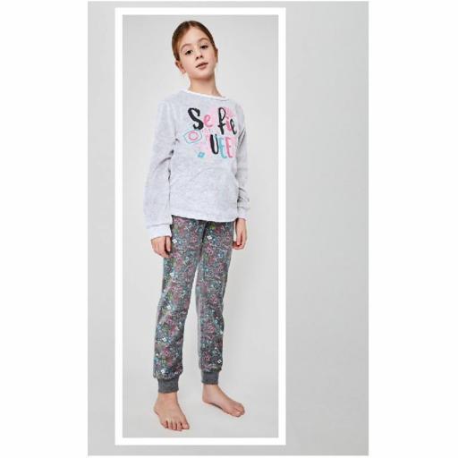 Pijama terciopelo para niña juvenil de Tobogan 21228302.jpg