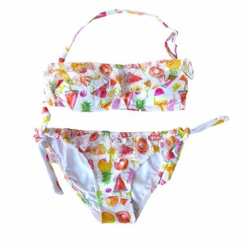 Bikini niña sin tirantes low cost 2201 jpg