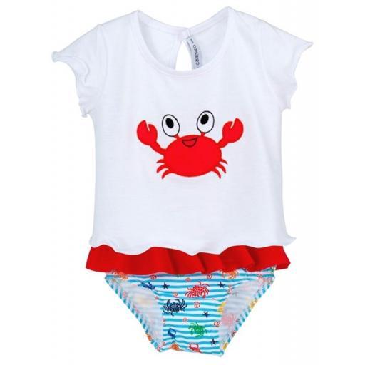 Calamaro bebe - Conjunto baño niña Cangrejo 23012.jpg