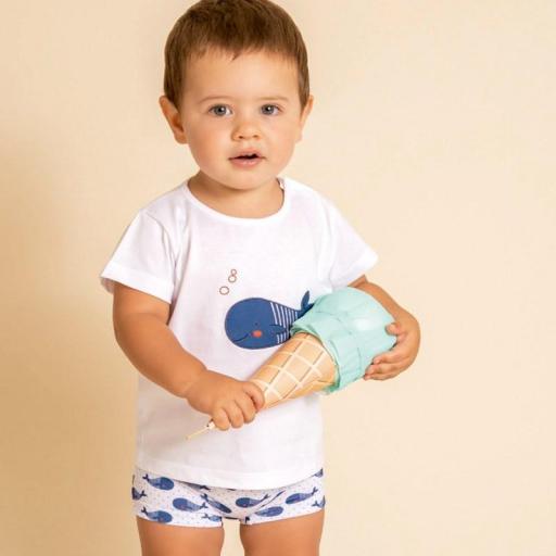 Comprar conjunto de baño para niño de Calamaro ballena 23013.jpg