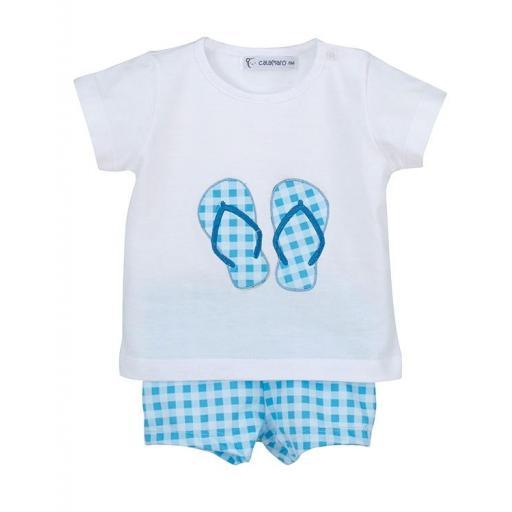 Calamaro baby - Conjunto baño niño Chancletas 23015.jpg