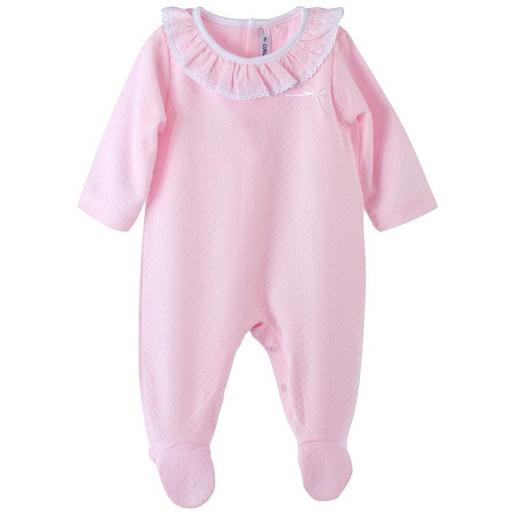 Calamaro baby Batam Pijama pelele manga larga algodón entretiempo32327 ROSA.jpg