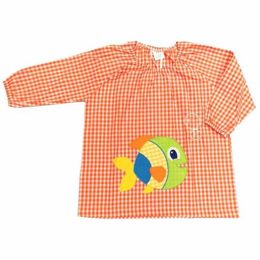 Bata o baby guardería sin botones de Garvel 40 naranja.jpg