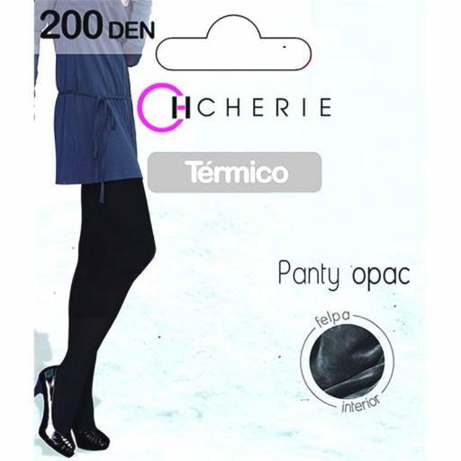 PANTY OPAC TÉRMICO 200 DENIERS INTERIOR FELPA