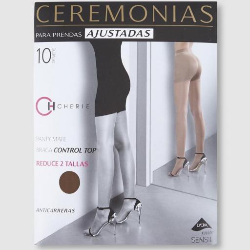 """PANTY """"CEREMONIA"""" CONTROL TOP ANTICARRERAS 10 DENIERS"""
