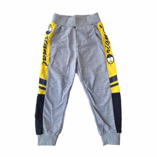 Pantalón niño deportivo entretiempo Low Cost 5518 GRIS.jpg