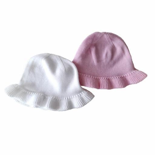 Gorro niña punto algodón verano Cóndor 57092/0.jpg