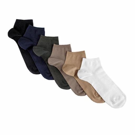 Calcetines hombre tobilleros algodón elástico Cóndor