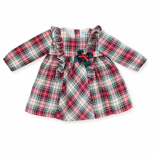 Mac Ilusión Vestido bebé y niña de cuadro escocés Jacquard Fox 8316.jpg