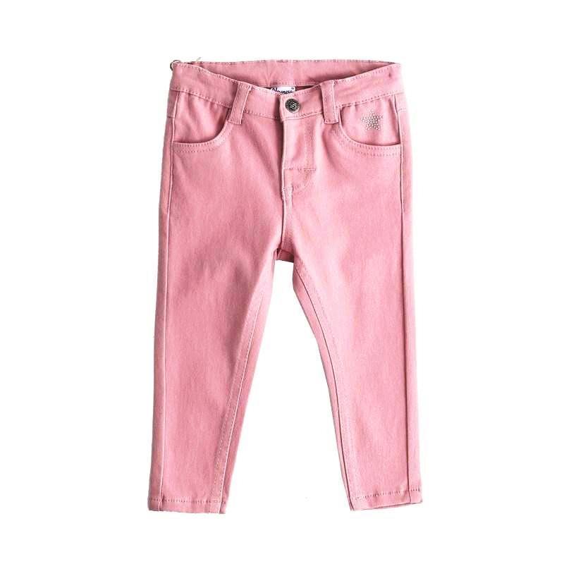 Newness Pantalón bebé niña loneta cálida rosa palo BGI57513.jpg